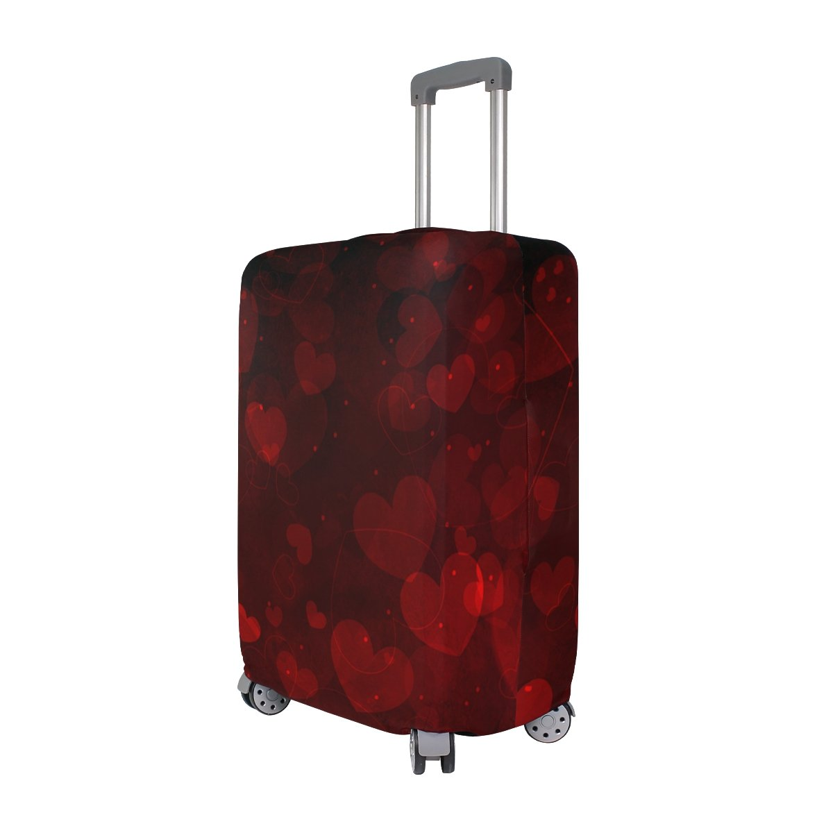 ALAZA Hearts Valentine's Day Wedding Luggage Cover Fits 30-32 Inch Suitcase Spandex Travel Protector XL by ALAZA (Image #2)