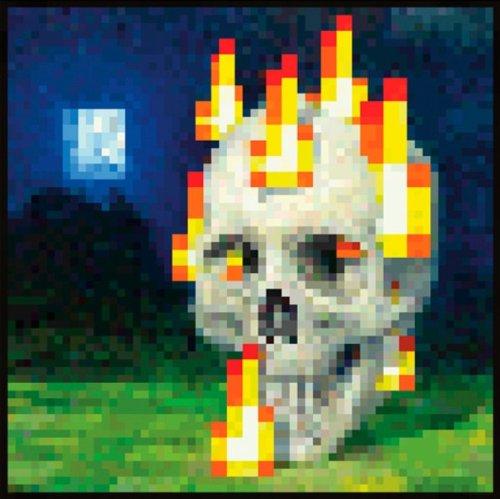 Minecraft Flaming Skull Maxi Poster