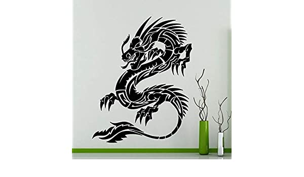 jiushixw Estilo Chino Dragon Tribal Tatuajes de Pared Animal ...