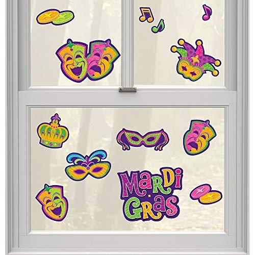 Mardi Gras Party Window Decoration, 18