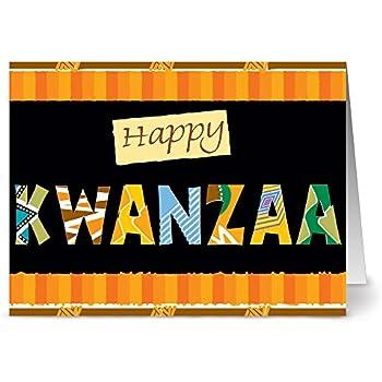 Amazon hallmark mahogany kwanzaa greeting card celebrating 24 holiday note cards happy kwanzaa blank cards green envelopes included m4hsunfo
