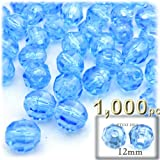 The Crafts Outlet 1000-Piece Faceted Plastic Transparent Round Beads, 12mm, Light Blue discount price 2017