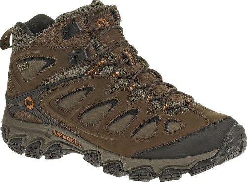Merrell Men's Pulsate Mid Waterproof Hiking Boot,Black/Bracken,11 M US