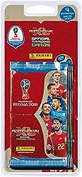 Panini France SA Coupe du Monde 2018 TCG Blister 4 Pochettes - Version Anglais