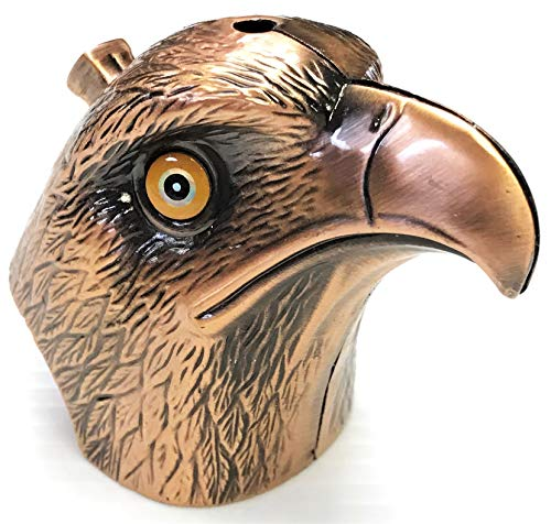 Eclipse Collectible Novelty Large Eagle Head Design Refillable Lighter, Assorted Colors, 1434