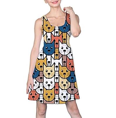 COW GO GO Women's Cat Face Sleeveless Dress