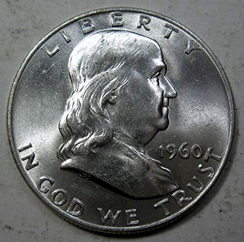 1960 D Franklin Half Dollar BU Mint Cello 90/% Silver US Coin