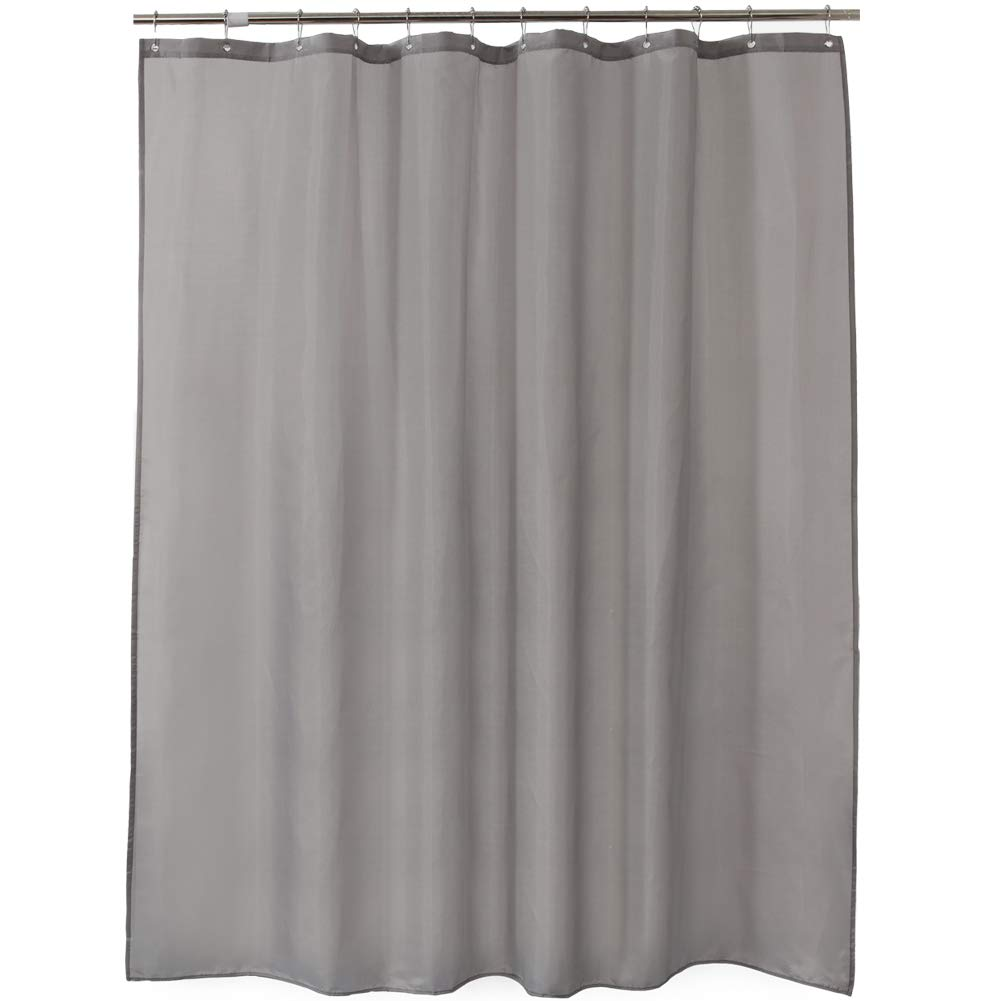 Amazer Shower Curtain, Gray Polyester Fabric Shower Curtain Liner Hotel Quality Bathroom Shower Curtains Non-Toxic No Chemical Odor Eco-Friendly -72'' x 72''