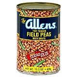 Allens, Bean Field Peas W Snaps, 15.5 OZ (Pack of 12)