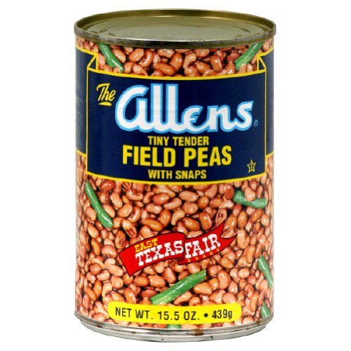 Allens, Bean Field Peas W Snaps, 15.5 OZ (Pack of 12) by Allens