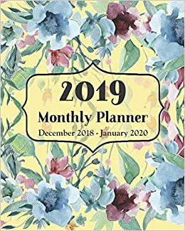 January 2020 Book It Calendar 2019 Monthly Planner December 2018   January 2020: 14 Month
