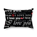 MeiGi The love cushion covers of ,16 x 24 inches / 40 by 60 cm decoration,gift for couples,christmas,festival,son,bar seat,lover (each side)