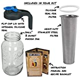 Cold Brew Mason Jar Coffee Maker with Handle by