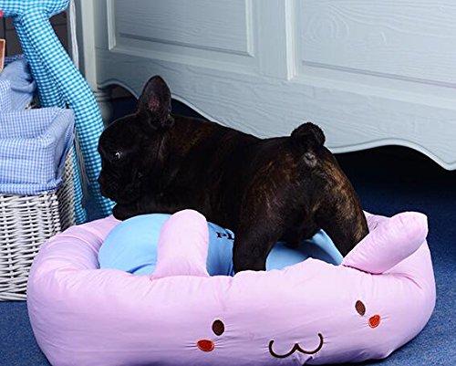 VEA-DE Letto per Animali di Alta qualità, Four Four Four Seasons Universal Rimovibile e Lavabile Cartoon Cat Nest Kennel Pet Nest viola 6c6f5f