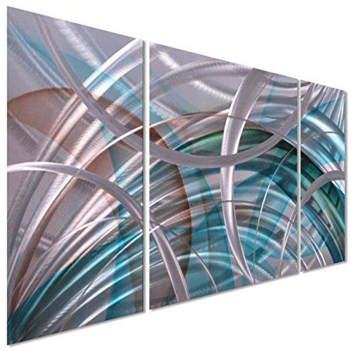 Arc Wall - Pure Art Abstract Arcs - Metal Wall Art Decor, Hanging Sculpture, 3 Aluminum Panels 50