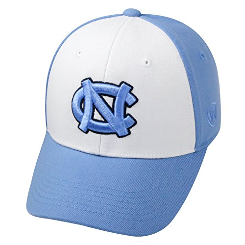 Top of the World NCAA-Premium Collection Two Tone-One-Fit-Memory Fit-Hat Cap- North Carolina Tar (2 Tone Ncaa Cap)