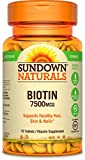 Sundown Naturals Super Strength Biotin 7500 mcg, 75 Tablets For Sale