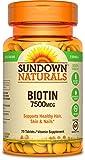 Sundown Naturals Super Strength Biotin 7500 mcg, 75 Tablets