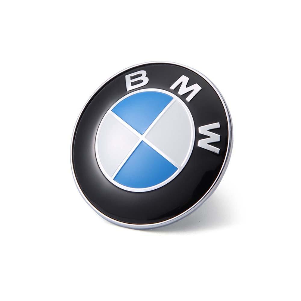 new bmw emblem 82mm w grommets 1 3 5 6 7 series x3 hood. Black Bedroom Furniture Sets. Home Design Ideas