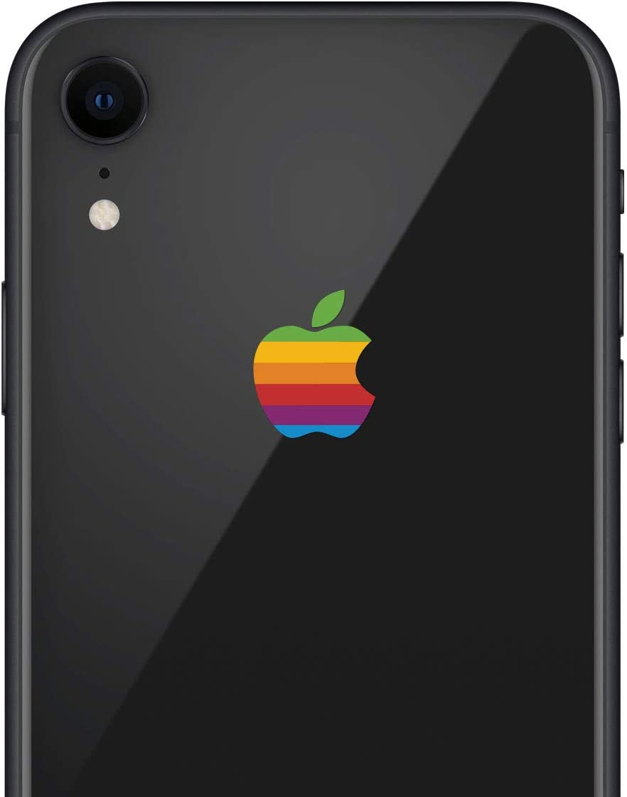LE 8-BIT Retro Apple Rainbow iPhone XR Decal Sticker for The iPhone XR and iPhone Xs iPhone Xs Max