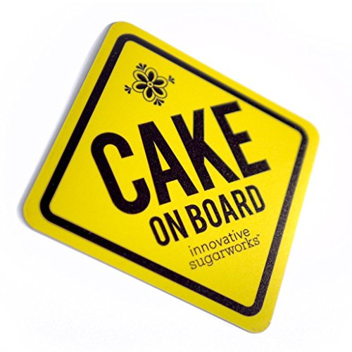 Innovative Sugarworks Cake on Board Car Magnet, Yellow Chef On Board