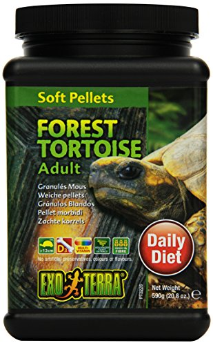Natural Forest Tortoise Food - Exo Terra Soft Adult Forest Tortoise Food, 20.8-Ounce