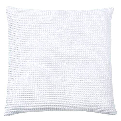 PHF Waffle Euro Sham Cover and Cushion Cover 100% Cotton 2 p