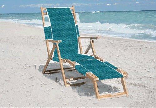 The Original Anywhere Chair Oak Lounge Beach Chair (Turquoise)