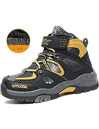 Kids Hiking Shoes Walking Snow Boots Antiskid Steel Buckle Sole Waterproof Winter Outdoor Climbing Cotton Sneaker …