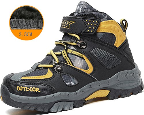 Kids Hiking Shoes Trekking Walking Snow Boots Antiskid Steel Buckle Sole Waterproof Winter Outdoor Climbing shoe