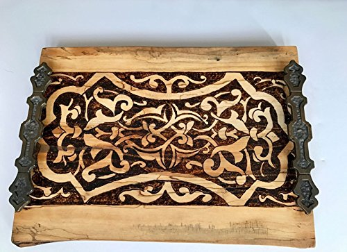 exquisite-handmade-and-handcrafted-beautiful-and-elegant-natural-wood-slab-tray-with-a-medieval-wood