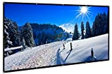 100 inch Projection Screen 16:9 HD Portable Projection Display Movie Screen DJ Screen Foldable Anti-crease Portable Projector Movies Screen Outdoor Camping Theater Version