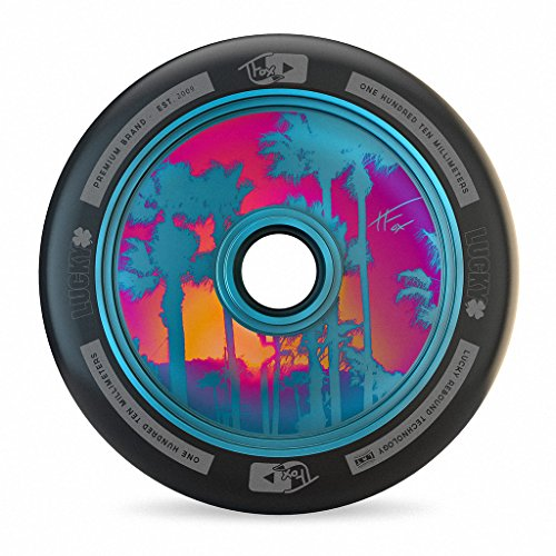 Lucky TFox Signature Hollow Core Scooter Wheel (1-Count), Blue, 110MM - Single Wheel