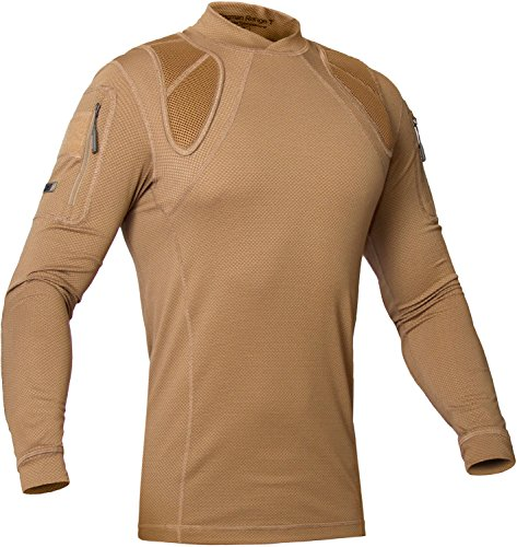 Tactical Moisture Wicking Shirt - Military Training Outdoor - Polartec Delta - Frogman Line by 281Z (X-Large, Coyote Brown) by P1G-Tac