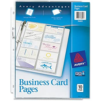 Amazon Avery Business Card Pages Pack of 10