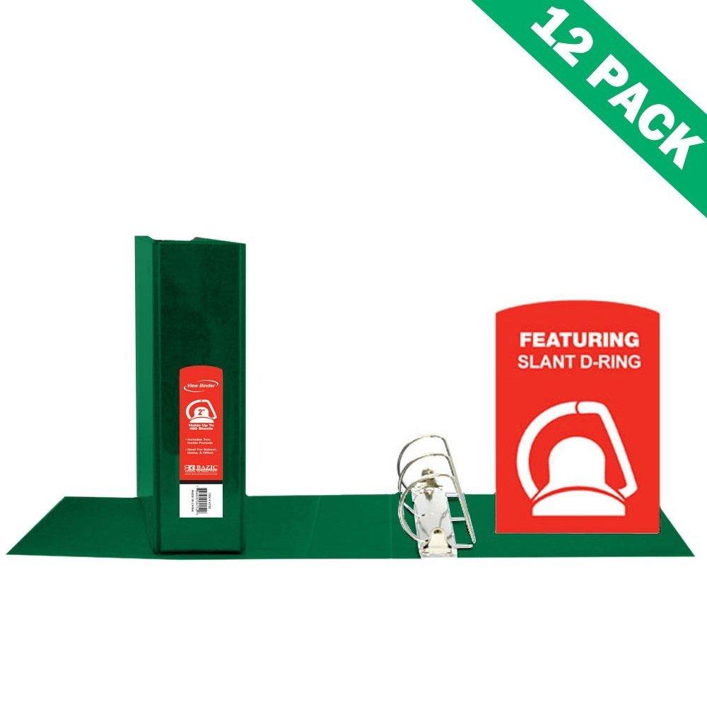 3-ring Binder, School 2-inch Green D Ring View Binder