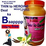 Muscle Creator nutrition's (thin to heroine) weight gainer for girls/women vanilla 1 kg [2.2lbs] 1000gms+250gms[Extra…