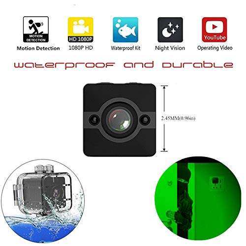 Mini Spy Hidden Camera, Waterproof Extreme Full HD Camera with 155° Wide-Angle Lens, Nanny/Housekeeper Cam with Night Vision & Motion Detection, Sports Action Cam with Mounting Accessories Kit by PROTOP CAM