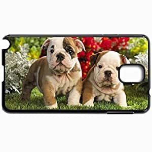 Customized Cellphone Case Back Cover For Samsung Galaxy Note 3, Protective Hardshell Case Personalized Dogs Two Puppies 29024 Black