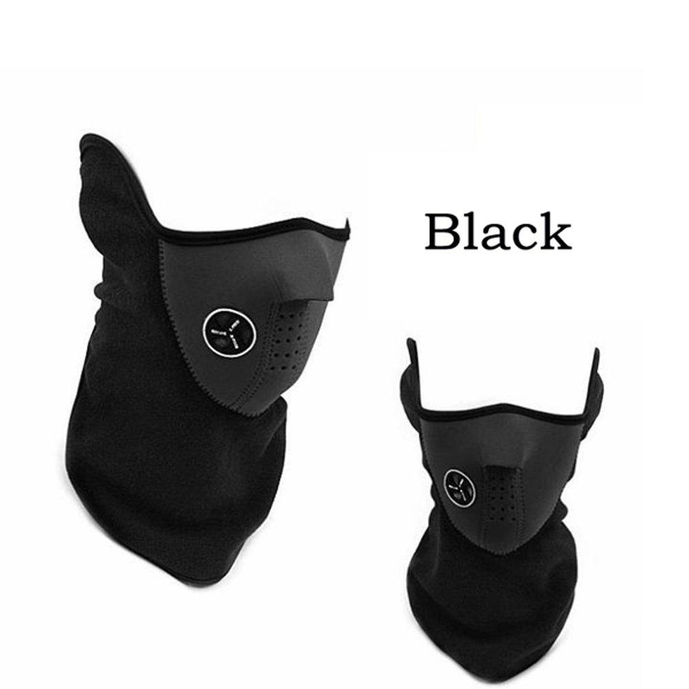 Halbgesicht Maske Hals Schleier-Schutz für Ski Snowboard Fahrrad Motorrad MTB Camping (schwarz)