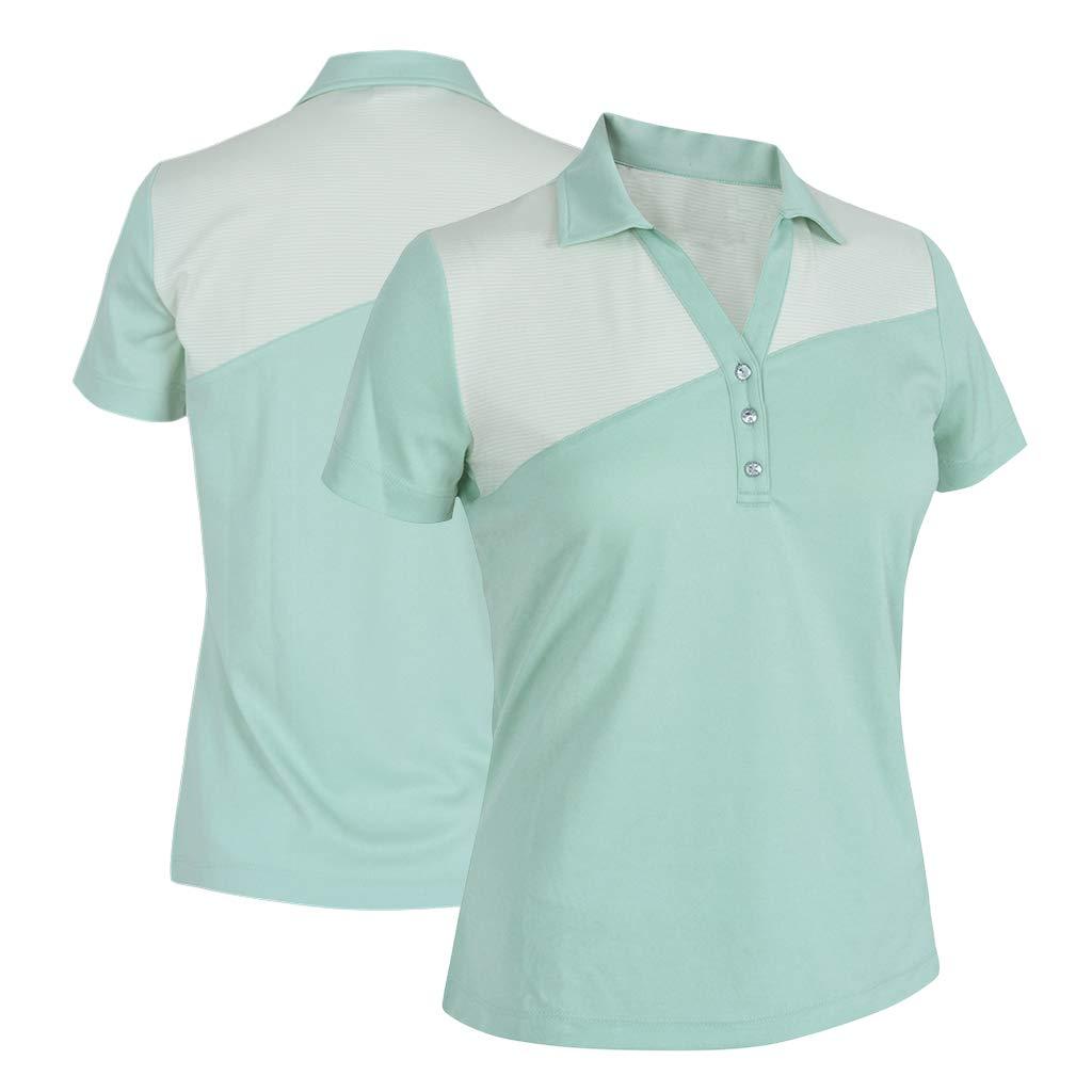 Monterey Club レディース ドライスイング ジェミーカラーブロックシャツ #2464 Medium Fairest Jade/Water Sprout B07L4X6CBH