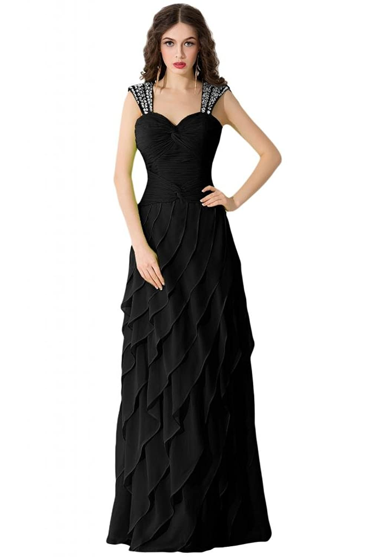 Sunvary Elegant Sweetheart Layerd Chiffon Prom Dresses Pageant Gowns Women Evening Bridesmaid Dress