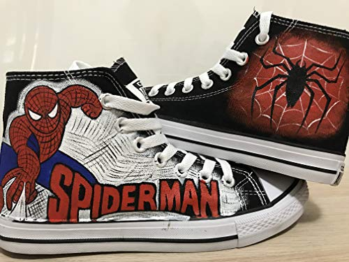 - Spider Man High Top Sneakers For Women Hand Painted Shoes Custom Chuck Taylors Chuck Taylor High Top FREE SHPPING