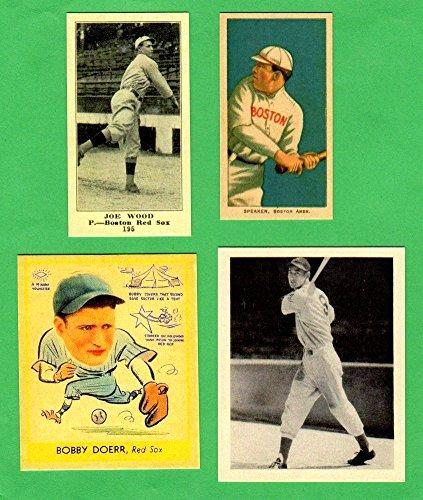 Boston Red Sox 4 Card Topps Rookie Reprint Lot 4 Smokey