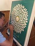Alternative Sunflower Wedding Guest Book - Guest Book Poster Print - Bridal Shower Guest Book - Solid Center - Unframed - 20x24-100 - 150-200 Signatures