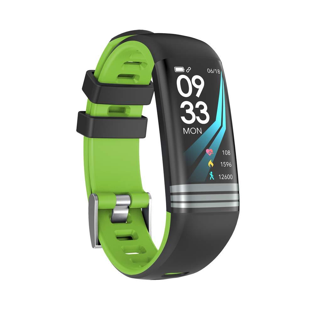Green WTGJZN Smart Fitness Bracelet IP67 Waterproof Heart Rate Blood Pressure Oxygen Monitor Multi Sport Mode Fitness Tracker