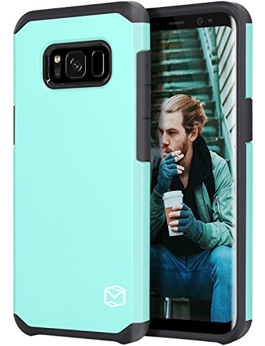 Galaxy S8 Active Case, MP-MALL [Dual Layer] [Shock Absorbent] Armor Hybrid Defender Anti-Drop Rugged Protective Shockproof Case Cover For Samsung Galaxy S8 Active (Mint)