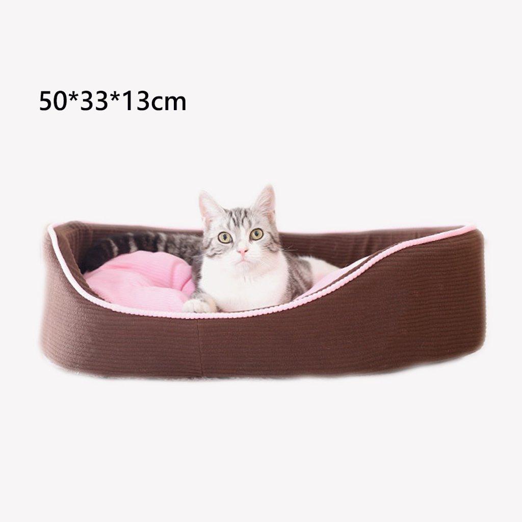 503313cm Kennel GAOLILI Cat Litter Washable Season Pet Cat Bed Cat Litter Warm Cat House (Size   60  45  16cm)