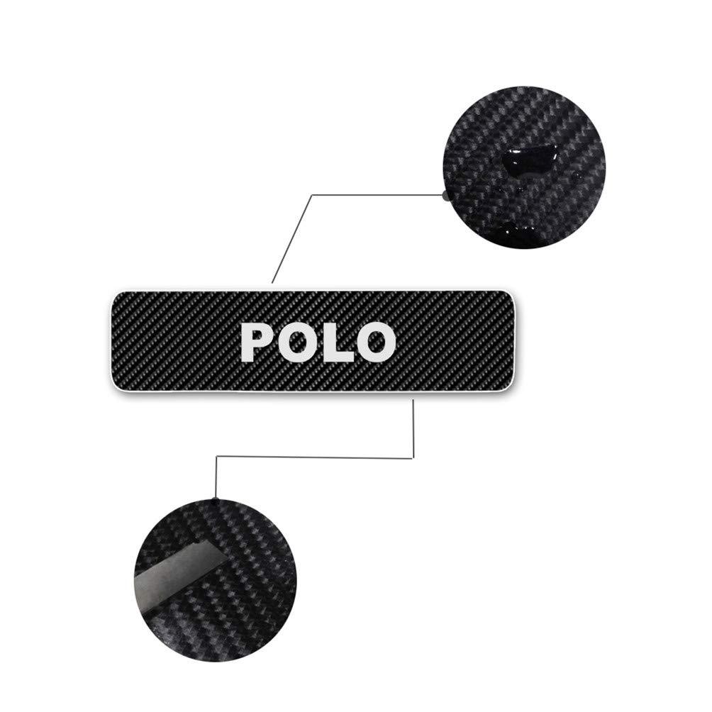 Juego de 4 pegatinas de fibra de carbono para el umbral de Polo Blanco