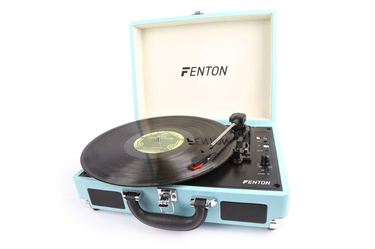 FENTON RP115 Reproductor giradiscos Maleta Azul 102106 ...